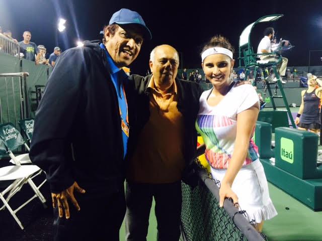 Miami Open with Sania Mirza and Imran Mirza